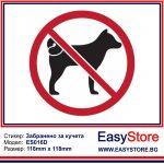 Забранено за кучета